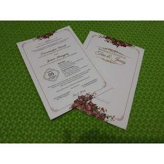 Cetak undangan pernikahan - 002