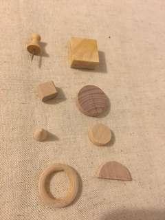 DIY綜合造型木頭材料一包