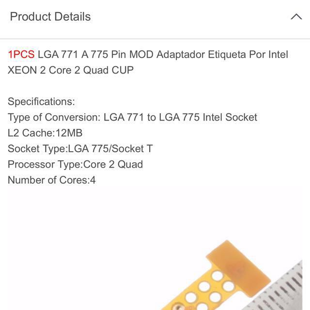 1pcs LGA 771 to 775 MOD Adapter Sticker For Intel XEON 2