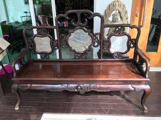 100+ years Antique Blackwood 红酸枝Bench/Chair/sofa