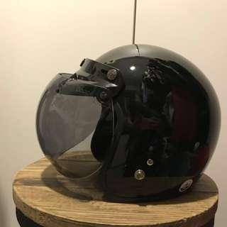 黑色電單車頭盔 全新