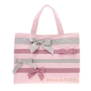 Maison de FLEUR Pink Tape Ribbon Tote Bag