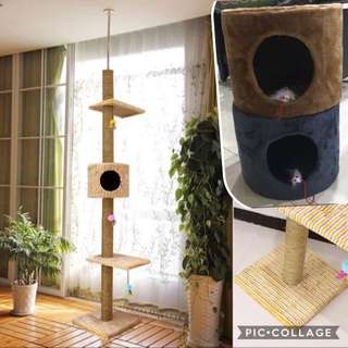 (NEW!) ceiling cat tree house scratch pole post