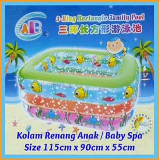 3 rings rectangle family swimming pool