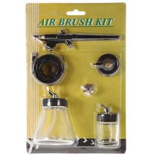 Airbrush Kit 0.8mm Single Action Syphon Feed With Accessories For Art & Craft, Hobby Kits, Models, Cake Decoration, Nail Art And Body Painting Etc. Adaptors Maybe Needed To Got To Your Compressor Type