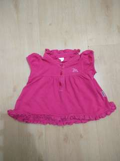 Pink baby top 0-6month