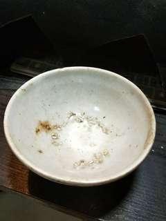明代出水瓷壓手碗