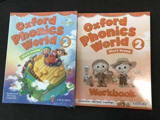 #In Stock# Oxford Phonics World 5 textbooks + 4 exercise books + 2 Interactive multi-ROMs