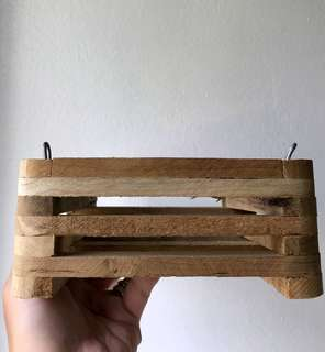 [READY STOCK!] Wooden Square Plant Holder