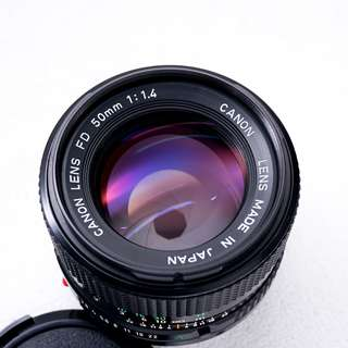 Canon 50mm f1.4 FDn manual focus lens