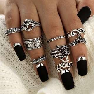 [PO] 9 Piece Chakra Rings