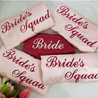 [In-Stock] Bridal Robe / Personalized Bridal Robe / Satin Robe / Bridesmaid Robe / Wedding Robe