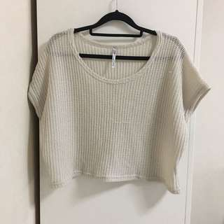 Knitted Top cream - preloved