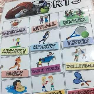 Educational Velcro Activity - Kids