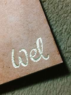 Gold Foiled Lettering Personalized Notebook