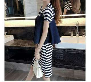 2 in 1 Stripe Dress