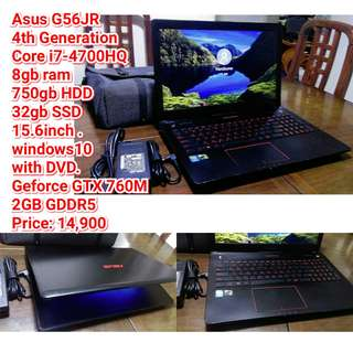 Asus G56JR 4th Gen. i7-4700HQ 8gb