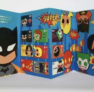 Justice league ezlink card set