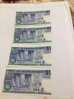 Singapore Notes ship series $1