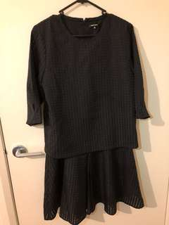 Tout a coup by I.T.  Black textured dress