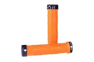 🆕! FIFTY-FIFTY MTB Bicycle Handlebar Orange Lock Grips      #OK