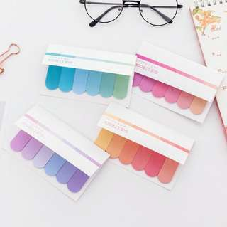 Water Color Rainbow Memo Pad Label Sticky Notes