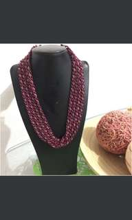 New magenta layer necklace