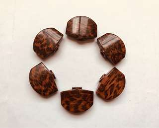 Gotoh 510 Snakewood Tuner Buttons (Full Sized)