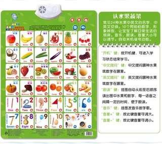 Educational learning chart audio English Chinese version