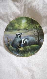 Vintage Spode The Wildlife Series Plate - Badger