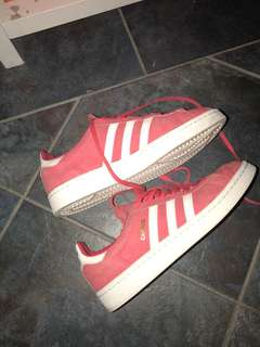 Pinky Red Adidas Campus Shoes
