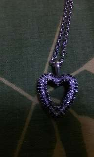 US Heart Shaped Pendant With Black and White Diamonds in 10K Setting