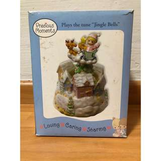 "Precious Moments Figurine - Plays the time ""Jingle Bell"""