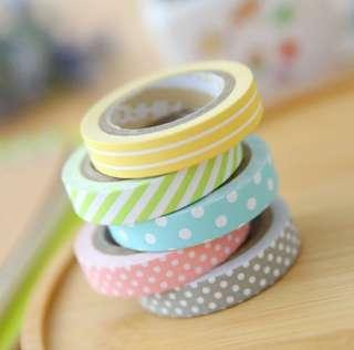 5pcs Japanese Paper Washi Tapes