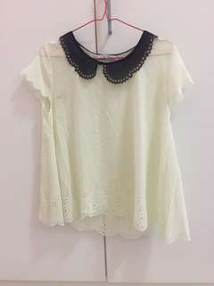 Chic Simple White Top