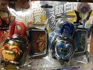 Masked rider 幪面超人 鎧武 dx 金銀蘋果 鎖 Lockseed 絕版