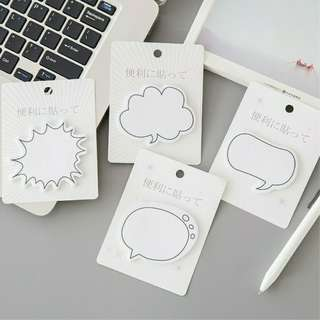 Dialog Box Cloud Sticky Notes Memo Post Its