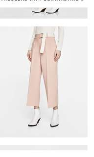Zara Pink Wide Leg Trouser