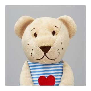 🚚 條文小熊填充玩具, 米色, 21*6*10 公分🔍居家