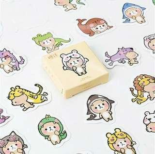 Cartoon Bear DIY Diary Stationery Stickers
