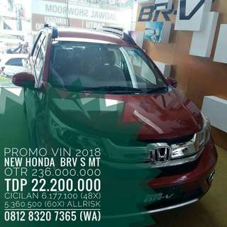 PROMO HONDA BRV 1.5 S MANUAL