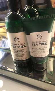Tea Tree Facial Cleanser and Moisturiser