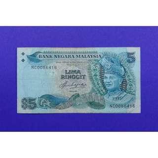 JanJun $5 5th NC 0086416 1st Prefix Siri 5 Aziz Taha RM5 Duit Lama