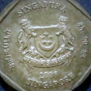 2008 Singapore old coin- 7 pcs