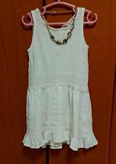 🚚 (買一送一)Zara乳白色荷葉邊童裝