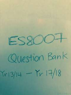 ES8007 Climate and Climate Change Question Bank