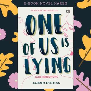 PREMIUM : E-BOOK PDF NOVEL ONE OF US IS LYING