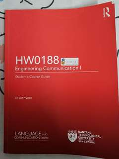 NTU Engine Comm 1(HW0188) book