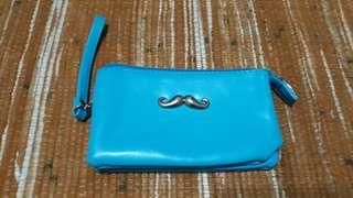 Mustache mini wallet