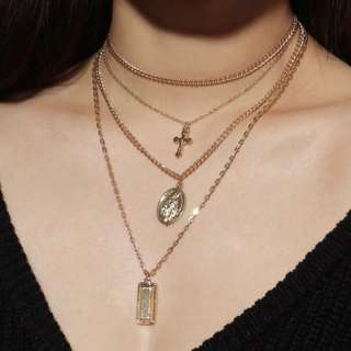 [PO] 4 Piece Layered Virgin Mary Necklace